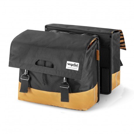 Double Bicycle Bag 40L Recycled - Grey Yellow