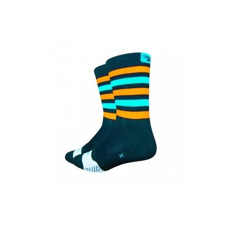 Thermeator 6″ Black w/Process Blue & Orange Stripes