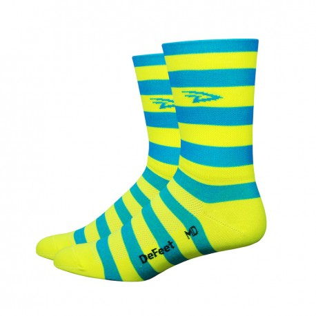 Aireator – 5″ D-Logo Stripes Blue Yellow