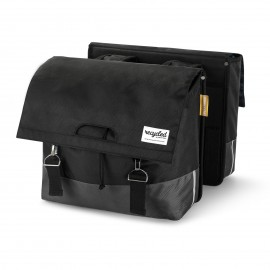 Double Bicycle Bag 40L Recycled - Black Grey
