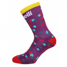 CALEIDO DOTS SOCKS - PURPLE