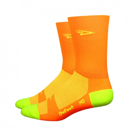 Aireator – 5″ D-Logo Process Orange w/ Hi-Vis Yellow