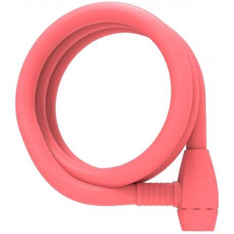 Candado Espiral coral pink LLave