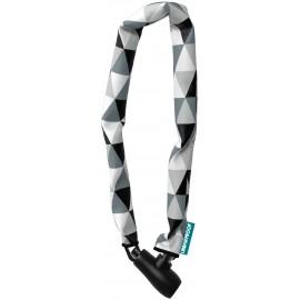 Candado Cadena Negro/Blanco con llave